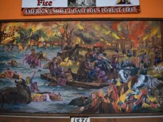 mural of the Peshtigo Fire