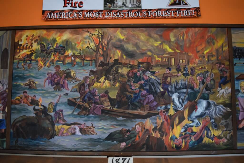 mural of the Peshtigo Fire
