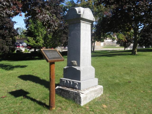 tombstone at Peshtigo Fire Cemetery
