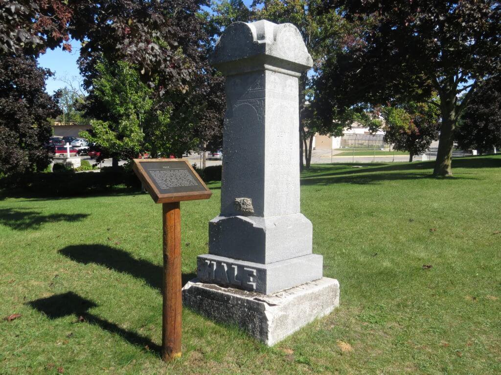 stories in the Peshtigo Fire cemetery